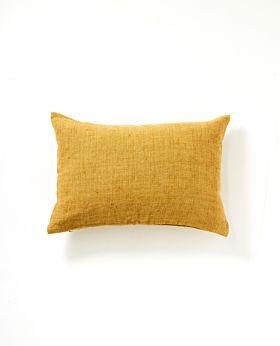Christophe linen cushion - mustard