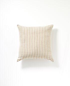 Christophe linen cushion - natural stripe