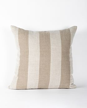 Christophe linen cushion - wide stripe neutral
