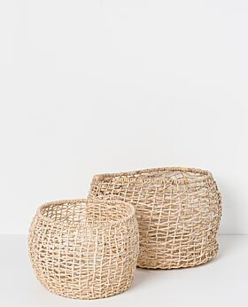 Cicely round woven basket