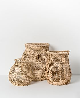 Cicely woven basket - tall set of 3