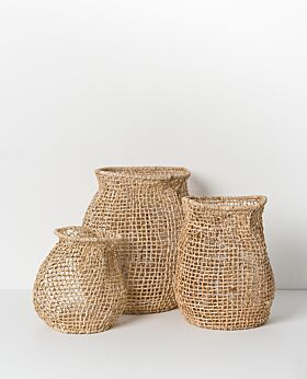 Cicely woven basket - tall