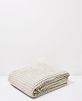 Claude waffle blanket/bedspread queen/king - celadon