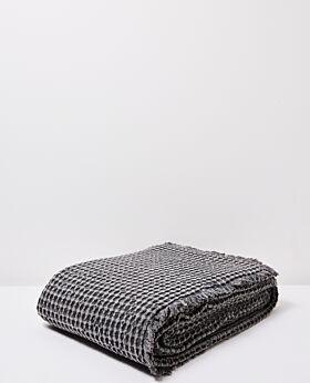 Claude waffle blanket/bedspread queen/king - graphite