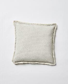 Claude waffle cushion - celadon