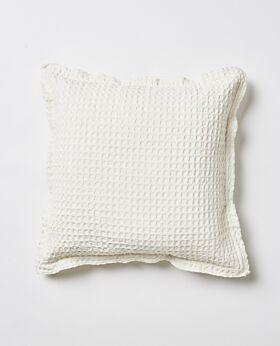 Claude waffle cushion - ecru