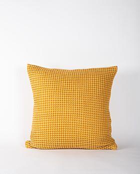 Claude waffle cushion - mustard
