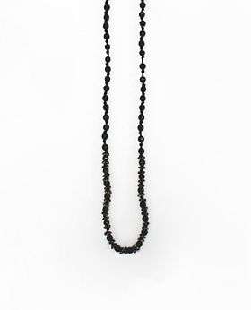 Coco necklace - gold & black
