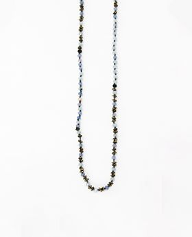 Coco necklace - gold & grey