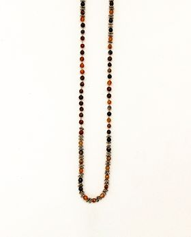 Coco necklace - gold & brown