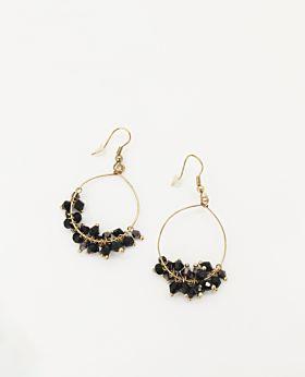 Cosette earrings - black hoop