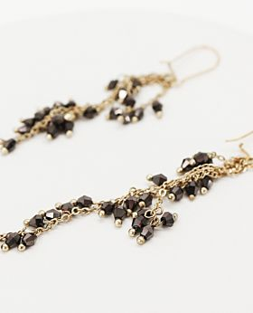 Cosette earrings - grey drop