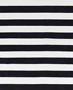 Dakota cotton stripe rug - black & white