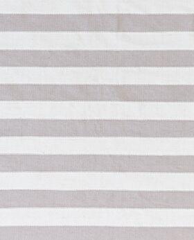Dakota cotton stripe rug- pearl & grey white