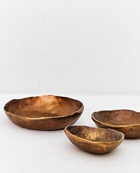 Dante heavy brass bowl