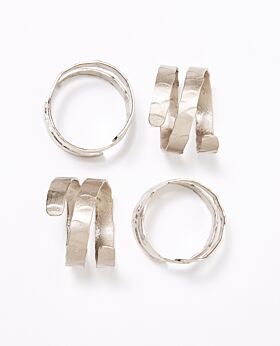 Dante napkin ring - nickel set of 4
