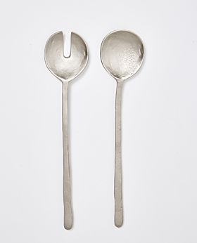 Dante nickel salad server - set of 2