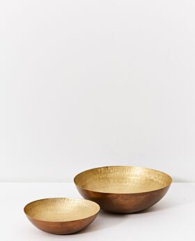 Dante patterned brass bowl