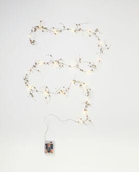 Dash LED garland with grey pearls