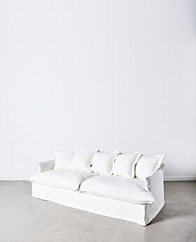 Dawson 3 seater sofa - white