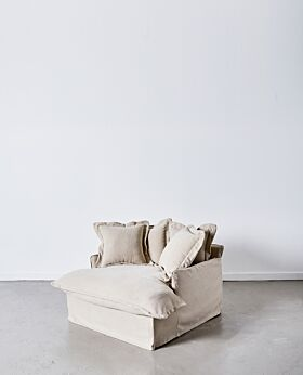 Dawson oversized armchair - wheat
