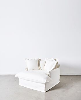 Dawson oversized armchair - white
