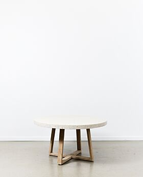 Denison terrazzo dining table round - shell