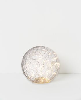 Capella LED crackle glass ball - clear