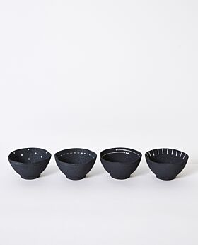 Emiko condiment bowls small - charcoal - assorted set of 4