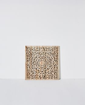 Etienne carved panel - natural/raw finish acacia