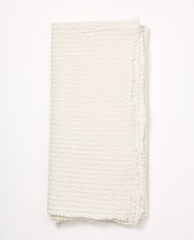 Etta picnic blanket/throw - ecru