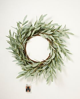 Eucalyptus LED wreath