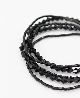 Felice multi-strand bracelet set - asstorted black