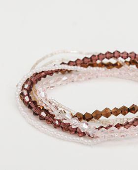 Felice multi-strand bracelet set - assorted pink