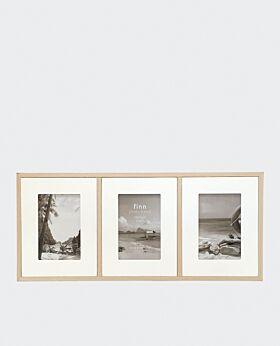 Finn tri photo frame - white