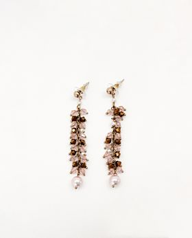 Fleur earrings - pink
