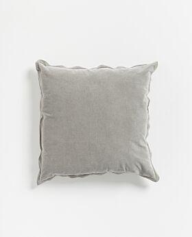 Freya velvet linen cushion - grey