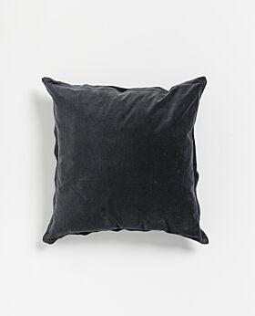 Freya velvet linen cushion- navy