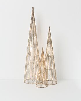 Gabriel LED cone tree champagne