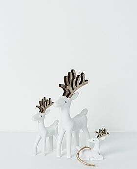 Gabriel standing reindeer with champagne antlers
