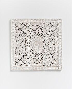 Gisele carved panel - white wash
