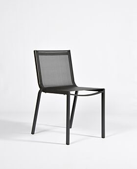 Granada dining chair stackable - charcoal