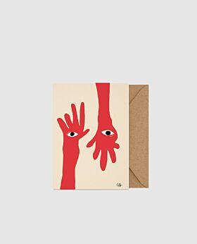 Paper Collective Hamsa Hands - A5 card
