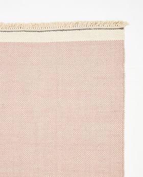 Pastello handwoven wool rug - blush