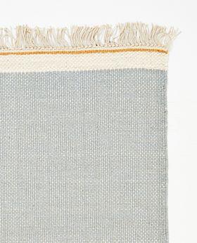 Pastello handwoven wool rug - sky