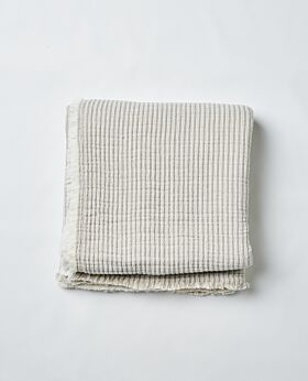 Henri bedspread king - striped