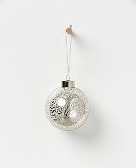 Holiday hanging glass bauble - champagne set of 4