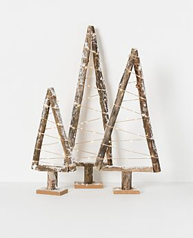 Holiday LED driftwood tree with snow