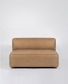 Hudson II 2 seat extension - tan leather*