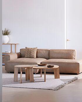 Hudson II corner seat - tan leather*